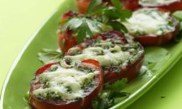 Seared Summer Tomatoes with Melted Cheese
